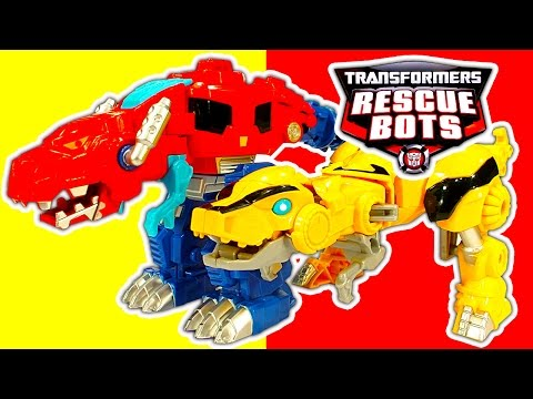 Transformers 1 Step Robot Toys & Rescue Bots Dinobots Toy Review