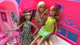 3 Chị Em Búp Bê Barbie Mới - Skipper, Barbie, Stacie - Kết Hợp Nhà barbie 2 trong 1 (Bí Đỏ)