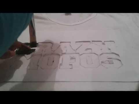 Como hacer una camiseta/T-shirt Crazy Mofos