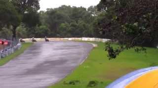 Shoel and Lathika Racing Hellibees CBR 250 at Pannala