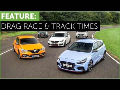 Hot Hatch Drag Race and Track Times i30N vs Megane RS vs 308 GTi vs Mini JCW vs Octavia vRS