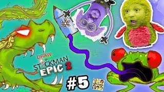 FROG & SNAKE vs. MINION & HATCHIMALS! Draw a Stickman EPIC 2 🚸 Chapter 5 & 6: Ice Crayon (FGTEEV)