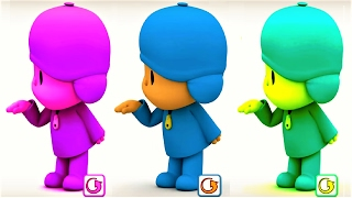 Baby Learn Animals with Talking Pocoyo, Tom Colours - Funny Videos For Children