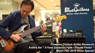 Blue Guitars - FREEDOM CUSTOM GUITAR RESEARCH Anthra 5st - Music Fair 2018 Show Special