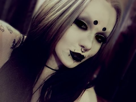 Everyday spooky goth girl makeup.