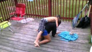 Little brother and sister fight