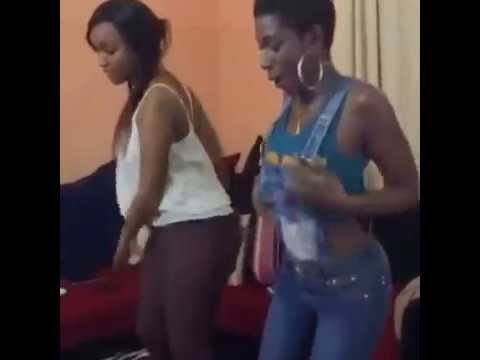 2 sexy TZ girls doing the Sankoro Dance