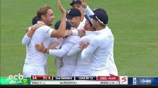 Stuart Broad takes 5-1 - England v South Africa cricket