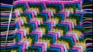 كروشيه اروع نقشة مع استخداماتهاCrochet APACHE TEARS stitch