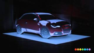 Audi A1 Car projection mapping