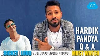 Hardik Pandya on Akshay Kumar - Life Changing Moment - Favourite Shot !!