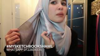 Hijab tutorial my sketchbook shawl by Emma Maembong