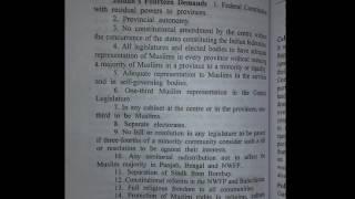 constitution of pakistan ,jinnah's 14 points
