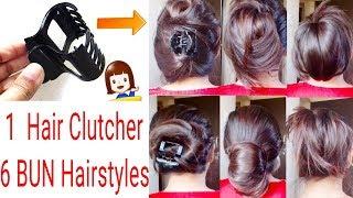 How To Tuck Clutcher Properly|Clutcher Bun Hairstyles|Everyday Hairstyles|Alwaysprettyuseful