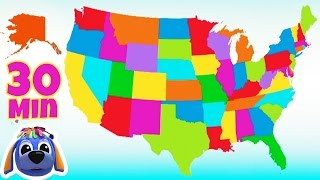 50 States That Rhyme | Nursery Rhymes | Songs for Children | Raggs TV
