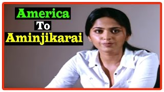 America To Aminjikarai Tamil Movie | Scenes | Title Credits | Anushka introduces her family | Arjun