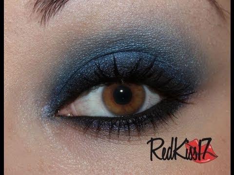 tutorial look ahumado azul