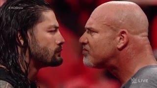 Roman Reigns vs Goldberg WWE RAW 1/2/17 - WWE RAW 2nd January 2017