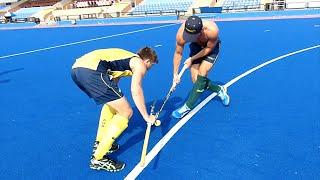 Jeramy Hayward Drag Flick technique. Australian hockey player shares his skills