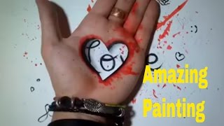 Awesome hand Art videos- Drawing on hands- talent it look like the real