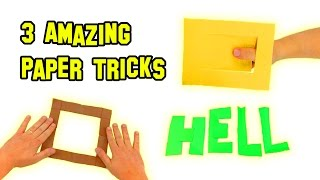 ✔ TOP 3 BEST Amazing Paper Tricks