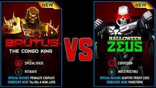 HALLOWEEN ZEUS NEW REAL STEEL WRB BRUTUS VS HALLOWEEN ZEUS 18.10.2017