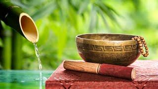 Bamboo Water Fountain + Tibetan Bowls | White Noise for Sleep, Studying, Meditation, Yoga | 10 Hours
