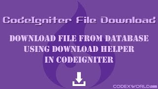 Download File from Database in CodeIgniter