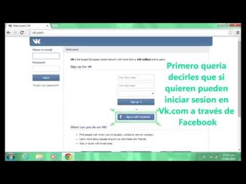 Tutorial de Vk (Vk.com) Cómo registrarse en Vk