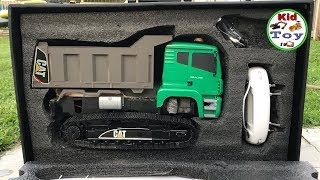 RC DUMP TRUCK METAL TRACK UNBOXING || RC EXCAVATOR HUINA 580 SCRAP PARTS || REVIEW AND TESTED
