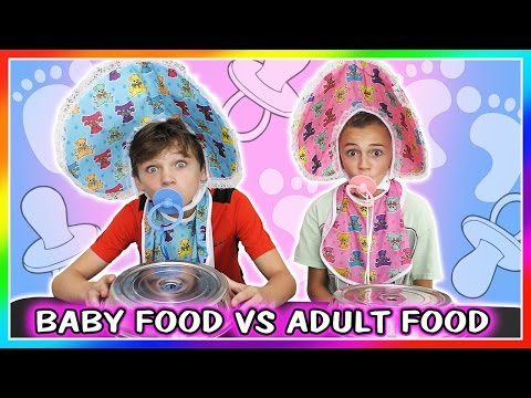 Xxx Mp4 BABY FOOD VS ADULT FOOD SWITCH UP CHALLENGE We Are The Davises 3gp Sex