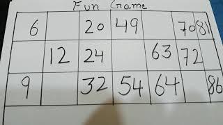 Factorisation (Kitty party fun game)😊