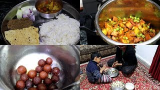 What I Cooked On Sunday || Indian Lunch Routine || Gajar Matar Aloo Sabji || Gulab-Jamun ||