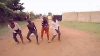 African kids having fun - a crazy dance