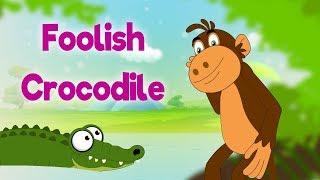 Foolish Crocodile - Panchatantra In English - Cartoon / Animated Stories For Kids
