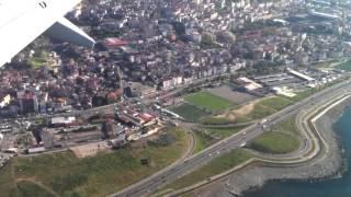 الهبوط بمطار طرابزون ، ترابزون، تركيا Landing in Trabzon Ai