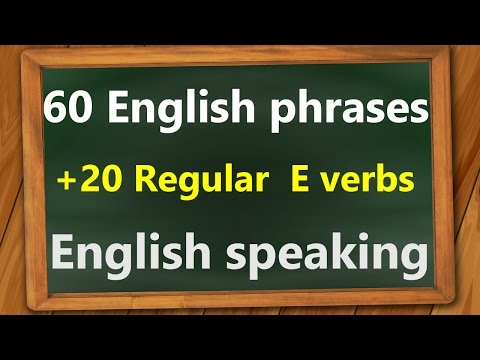 Learn English in Hindi | 60 English phrases with 20 regular verbs E | English Urdu speaking course