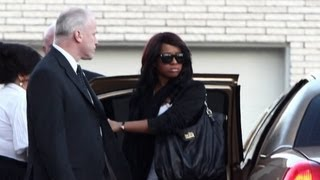 Whitney Houston Funeral - Bobbi Kristina and family attend viewing