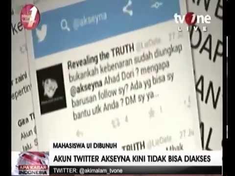 Xxx Mp4 Heboh Akun Twitter Akseyna Mahasiswa Universitas Indonesia UI Yang Tewas Di Danau Kembali Aktif 3gp Sex