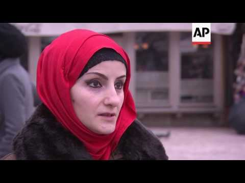 Xxx Mp4 Muslim Women Mark World Hijab Day In Bosnia 3gp Sex