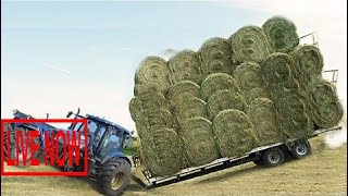 World Amazing Modern Agriculture Equipment and Mega Machines: Hay Bale Handling Tractor, Loade #ARJ