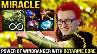 MIRACLE WINDRANGER CRAZY GAME! Unstoppable Windrun Dota 2