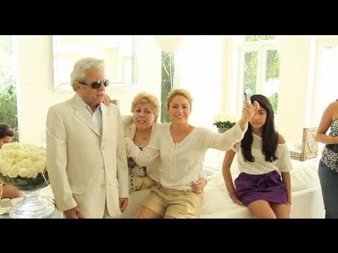Shakira y su padre William Mebarak graban Hay Amores Shakira & her dad record Hay Amores