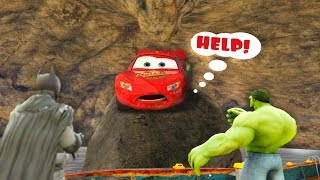 LIGHTNING McQueen Trapped in water cave by Joker and Venom! Cartoon for children