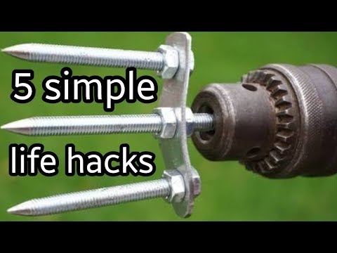 5 awesome life hacks for lathe and drill machine