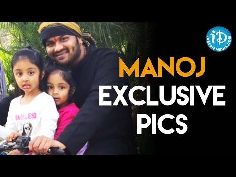 Manchu Manoj Exclusive Pics With Vishnu And Lakshmi's Daughters