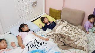 Sıla Ve Mira Bugün Yağmurlarda Uyudu Eğlence Tv