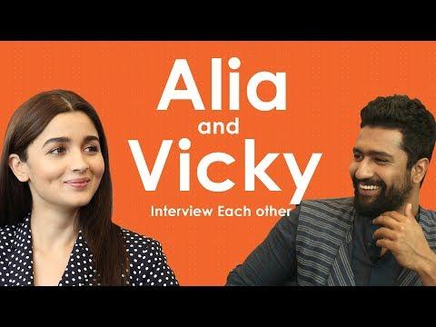 Xxx Mp4 Alia Bhatt And Vicky Kaushal Interview Each Other 3gp Sex