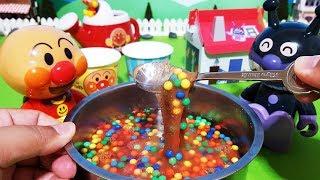 アンパンマン おもちゃ おままご 一度はやってみたいお料理 スライムとカラービーズとお砂と水 全部混ぜたらやばいことになった!
