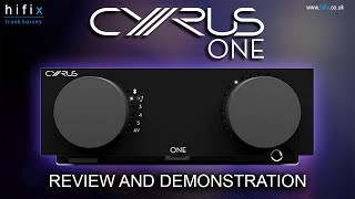 Cyrus One Stereo Amplifier Review and Demonstration Video